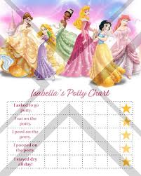 Disney Princess Behavior Chart Printable Disney Princess Potty Training Chart Princess Potty Chart Disney Potty Training Tracker Girls Potty Training Chart Potty Chart