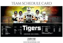 Sports Team Schedule Maker Sports Schedule Template