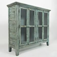 accent cabinet with glass doors jofran 1615 48 rustic ss
