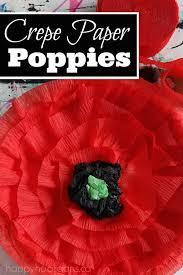 Make A Paper Poppy Flower Crepe Paper Poppy Craft For Kids Happy Hooligans