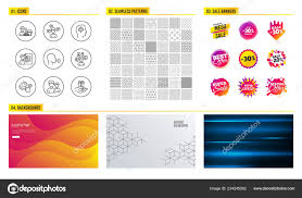 Seamless Pattern Shopping Sale Banners Set Cleaning Service