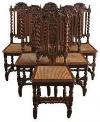 antique wooden dining chairs. Delighful Wooden 6 Antique Dining Chairs 1880 French Hunting Style Carved Wood Rattan Leafy With Wooden U