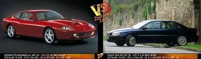 Volvo amazon vs ferrari 599 gtb f1 interior + exterior race. Ferrari 550 Maranello Vs Volvo S80 D5 Duel 150380