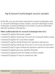 topresearchtechnologistresumesamples lva app thumbnail jpg cb