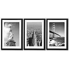 new york city nyc skyline skyscraper canvas print wall art decor framed posters 3 piece black on rectangular framed wall art with amazon new york city nyc skyline skyscraper canvas print wall