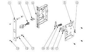 mortise door lock parts. Plain Parts Sargent_8215_Parts_List To Mortise Door Lock Parts B