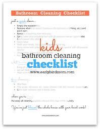 bathroom cleaning schedule. Bathroom Cleaning Schedule