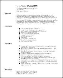 Free Entry Level Maintenance Technician Resume Template Resumenow