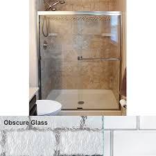 obscure glass shower doors. Basco Classic Frameless Siliding Shower Door With Obscure Glass, (48\ Glass Doors