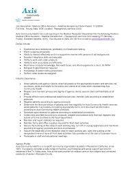 Medical Receptionist Description For Resume Fresh Resume Example