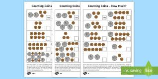 Coin Value Chart Elementary Place Value And Coins Worksheet Worksheets Year 2 Maths