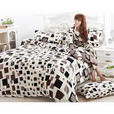 designer unique best black and white box patterned flannel duvet covers