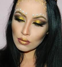 greek golden dess halloween makeup tutorial