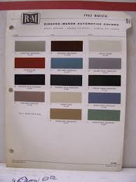 1963 Buick Wildcat Riviera Electra Lesabre Paint Chips Color