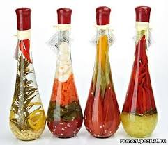 Decorative Glass Bottles Filled With Peppers handmade decorative bottles with fruit and vegetables Share Your 2