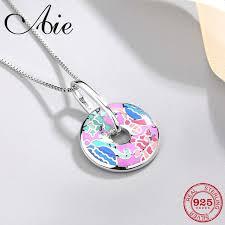 fashion diy gift 925 sterling silver like gorgeous sea world biology colourful enamel fine necklace pendant