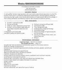 entry level legal secretary resume objective best example