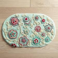bright fl oval bath rug pier 1 imports bright fl kitchen rugs