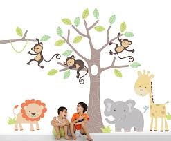 children s jungle wall stickers