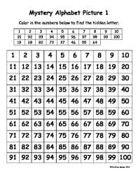 Alphabet Numbers Chart Mystery Alphabet 100 Chart Pictures