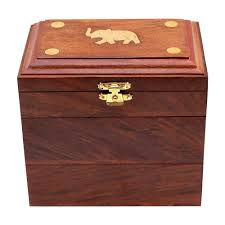 dels about handmade wooden jewellery box for women jewel organizer elephant charm gift item