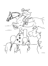 Horse Coloring Pages Page Jumping Final Ayushseminarmahainfo
