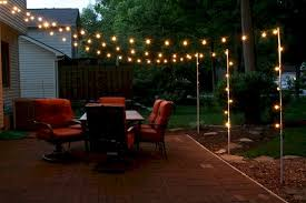 Hanging Patio Lights On Deck Simple Lighting Ideas For Beautify Your Backyard Backyard