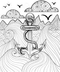 vector zentangle print for coloring page hand drawn new anchor