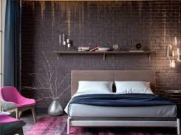 Silver Bedroom Furniture Sets Appealing Modern Bedroom Furniture Sets With Brown Brick Wall Plus