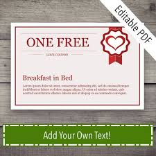 Create Your Own Voucher Template Fascinating Coupon Book Coupon Template Love Coupon Love Coupons Love Etsy