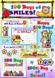100 Days Of Smiles Activity Download With Clipart For School