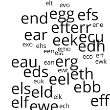 three letter words that start with e