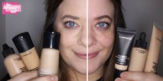every single mac foundation tested on half a face