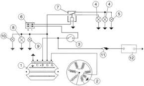 vespa px battery wiring and starting system circuit