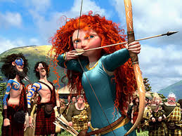 Merida, risking tearing every tendon in her body.