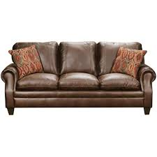 ... Classic Traditional Brown Sofa - Shiloh