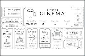 Admit One Ticket Template Free Adorable Movie Ticket Templates Pack Top Result Unique Entry Tickets Template