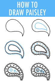 How To Draw Patterns Magnificent How To Draw Paisley In 48 Easy Steps