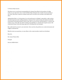 Recommendation Letter For High School Student Template