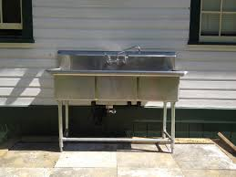 commercial sink installed outside 2