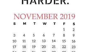 November November Calendar Awesome Cute November Calendar 2019 Floral Wallpaper For