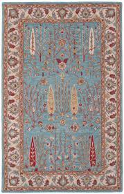 safavieh heritage hg735a blue ivory area rug