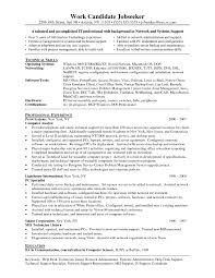 Resume Network Support Technician Resume Vosvete For Entry Level