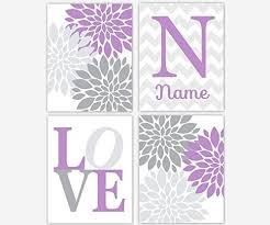 >amazon baby girl nursery wall art lavender gray purple  baby girl nursery wall art lavender gray purple personalized art flower burst girl room floral wall