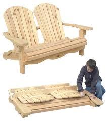 Outdoor Furniture - Folding Adirondack Loveseat Plan