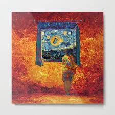 goodbye doctor who metalprint point society6 metalprint painting digital oil