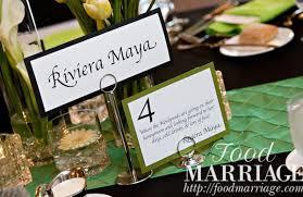 table names wedding. Wedding Table Name Idea Riviera Maya @FoodMarriage Names