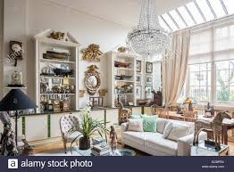 1920er Jahre Glas Kronleuchter In London Apartment Mit 19