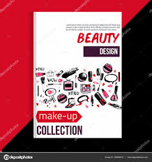 brochure cover template for makeup artist studio business card brochure and flyer vector by alena st
