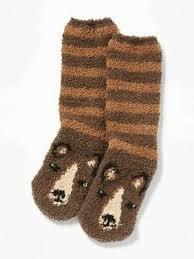 Бурый медведь пушистые уютные <b>носки</b>-женские-медведи ...